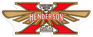 excelsior henderson tank decal