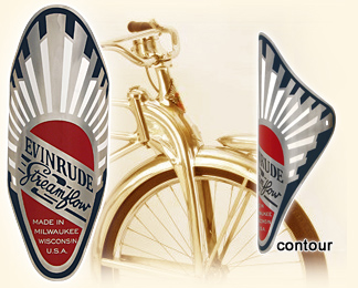 Transfers Decals 07033 Carlton Head Badge Bicycle Stickers
